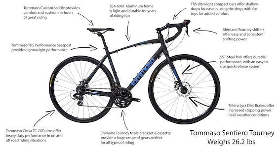 Tommaso Sentiero Tourney - best cyclocross bike under 500