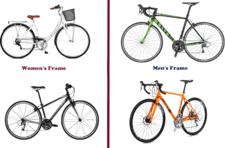 frame size of hybrid bike