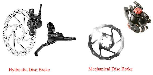 Comparison-hydraulic-disc-mechanical-disc-brake